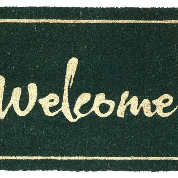 Fab Habitat - Painted Welcome Doormat Size 18 x 30 inches, Non-Slip, Durable