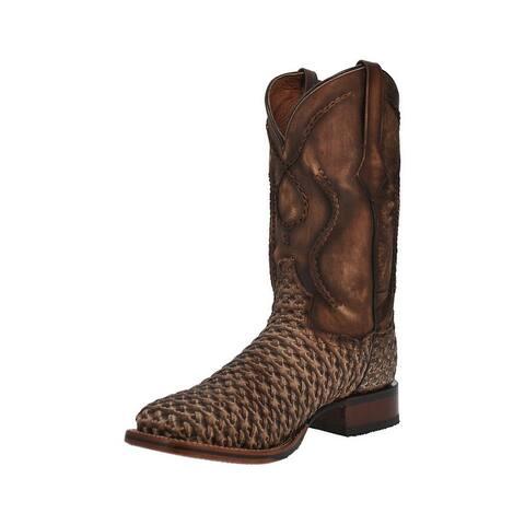 Dan Post Western Boots Mens Stanley Leather Lacing Tan
