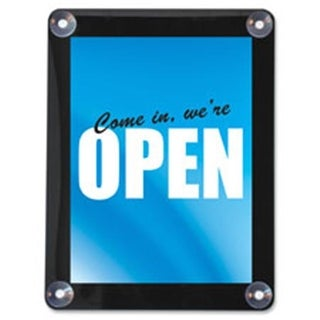 Deflect-O Double-Sided Window Display Sign, 8.5 in. x 11
