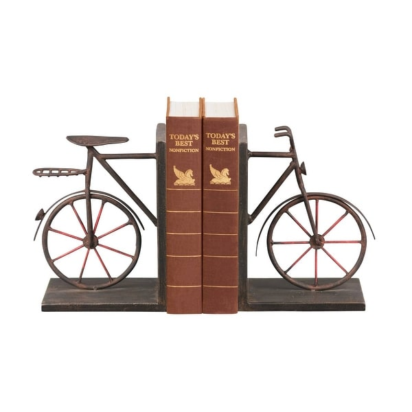 Elk Home 51-3857 Sterling Pair Bicycle Bookends