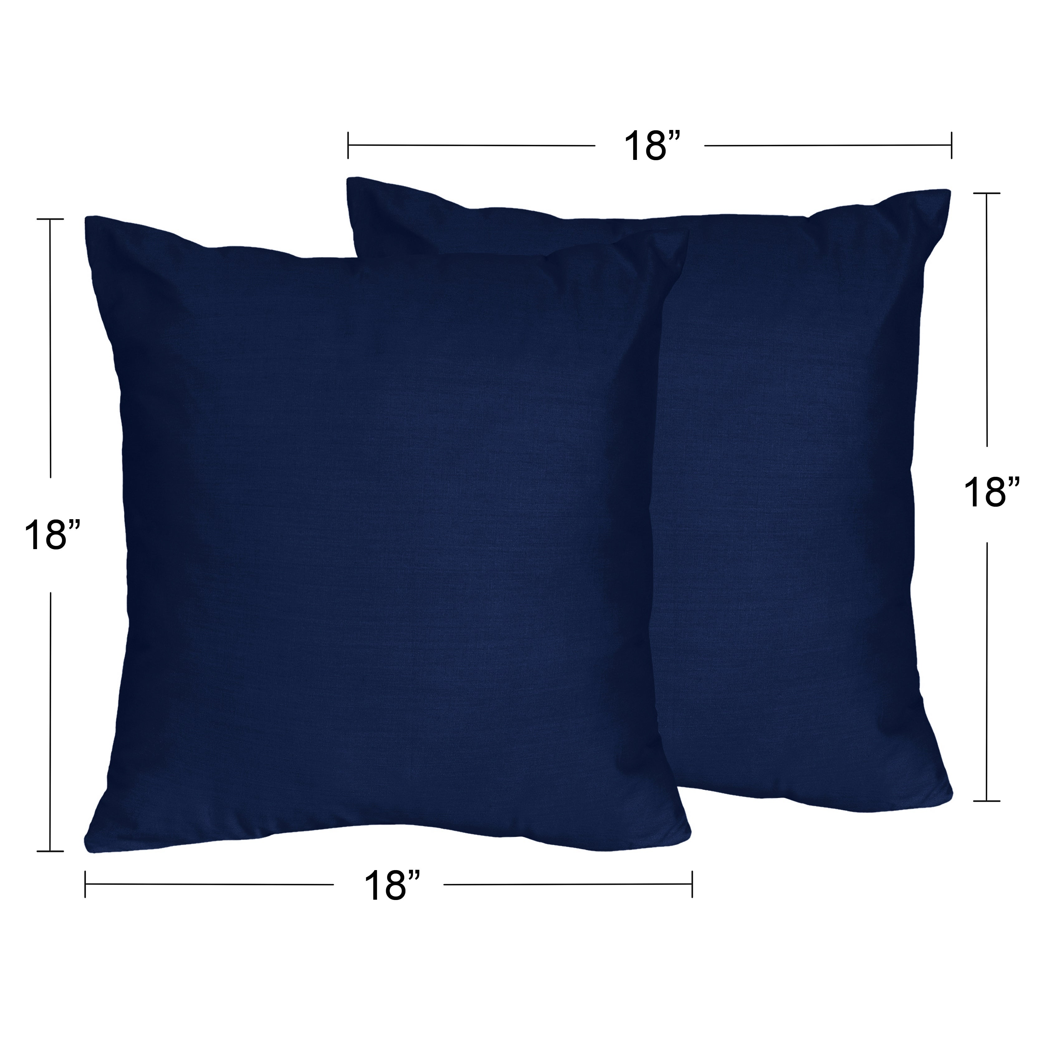Sweet Jojo Designs Navy Blue And Grey Stripe Collection Decorative 18 Inch Accent Throw Pillows Set Of 2 Overstock 12777704