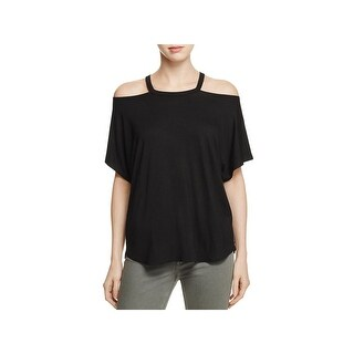 Alison Andrews Womens Casual Top Cut-Out Scoop-Neck