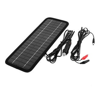 Unique Bargains 12V 4.5W Flat Multi Purpose Power Solar Panel Battery Charger for Car Boat Auto