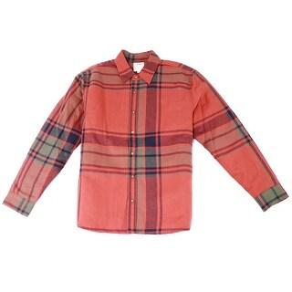 Levi's NEW Crumb Orange Men's Size Large L Plaid Button-Down Coat