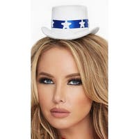 Star And Banner Mini Hat, White Mini Hat - One Size Fits most
