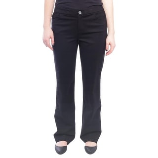 Anne Klein Compression Ponte Straight Pant Women Regular Straight Pants