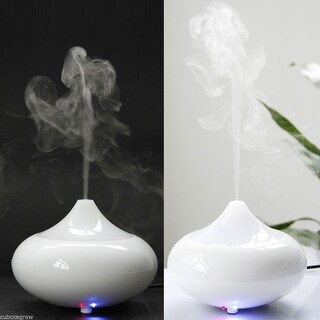 2x LED Fragrance Essential Oil Aroma Diffuser Ultrasonic Humidifier Air Purifier - Pearl White