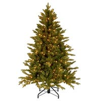 4.5' Pre-Lit  Avalon Spruce Christmas Tree – Clear Lights - green