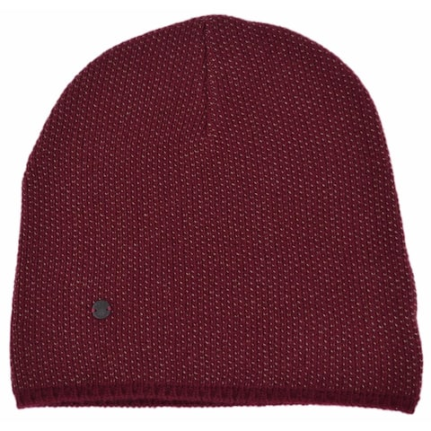 Gucci 352350 Men's Burgundy Beige Wool Cashmere Beanie Ski Winter Hat M