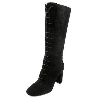 Nine West Waterfall Round Toe Suede Mid Calf Boot