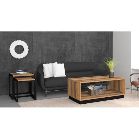 "Oslo 2 Pieces Living Room Set - 43.3""L x 21.7""W x 16.9""H"