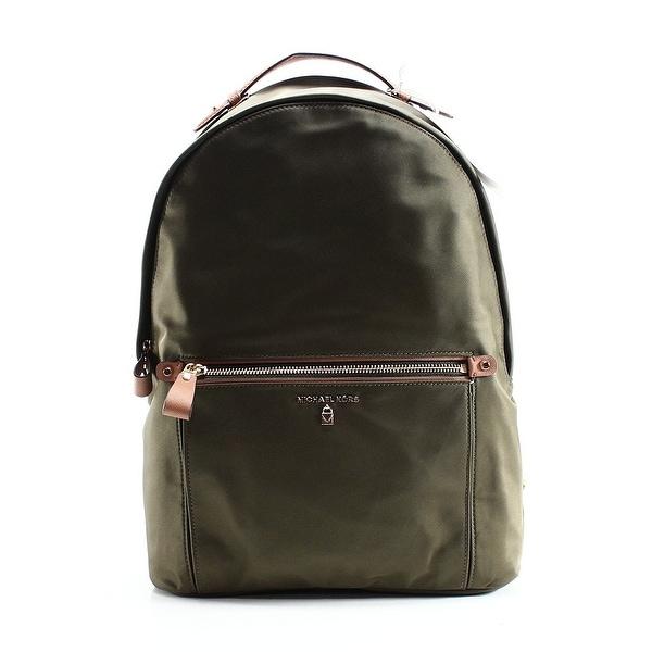 1c674d0c5427 Michael Kors NEW Green Olive Nylon Kelsey Large Zip Top Backpack Bag