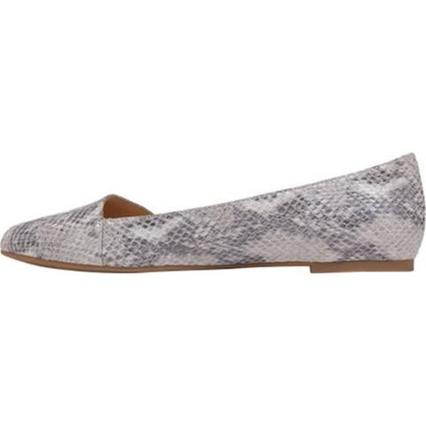 Lucky Brand Women's Archh Slip On Almond Toe Asymmetrical Ballet Flats
