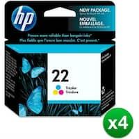 HP 22 Tri-color Original Ink Cartridge (C9352AN) (4-Pack)