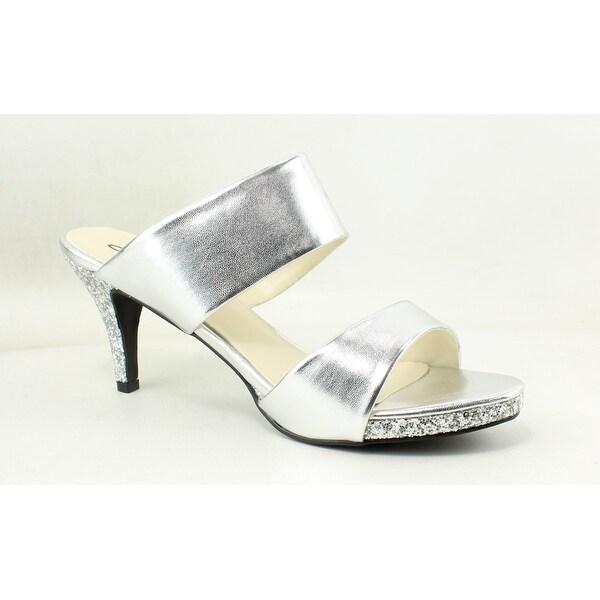 f996ec083a Shop Annie Womens Boyton Silver Open Toe Heels Size 9.5 - On Sale ...