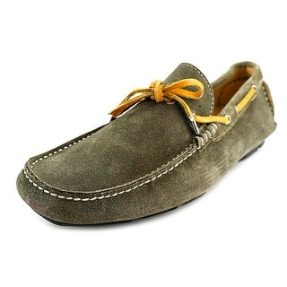 Gold Brothers Velour Women Moc Toe Suede Green Loafer