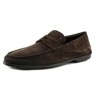 Tod's Mocassino Dry Youth Moc Toe Suede Brown Loafer