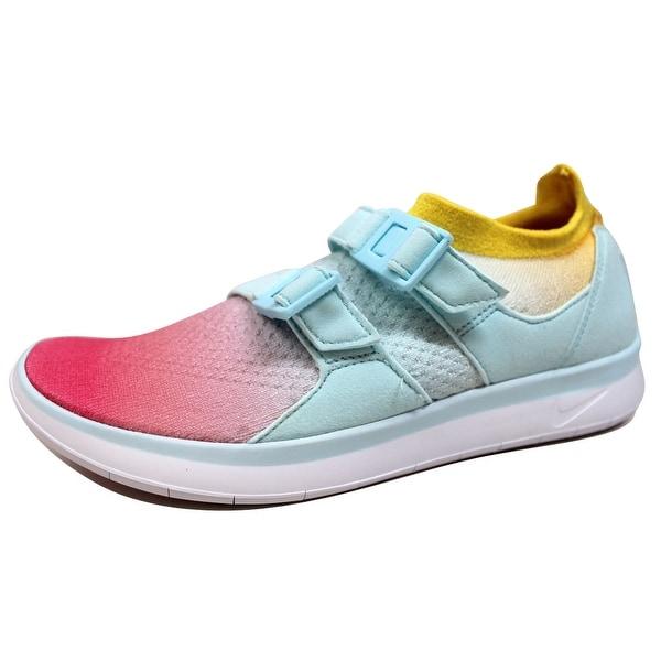 Nike Women's Air Sockracer Flyknit White/Glacier Blue-Racer Pink 896447-100
