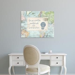 Easy Art Prints Katie Pertiet's 'Travel Posts III' Premium Canvas Art