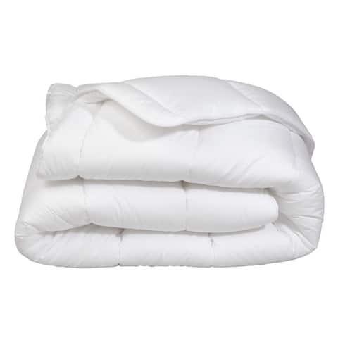 Super Soft Oversized Lightweight White Down Alternative Comforter All Season!