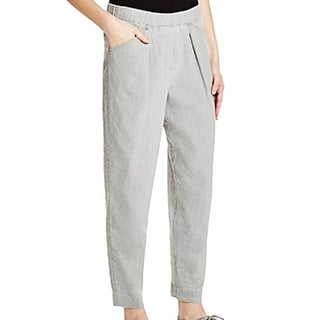 PURE DKNY NEW Gray Cool Women's Small S Pleated Stretch-Waist Pants