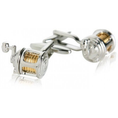 Fishing Reel Fisherman Cufflinks