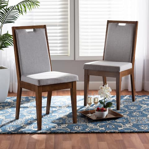 Octavia Modern and Contempory Upholstered Wood Dining Chair Set(2PC)