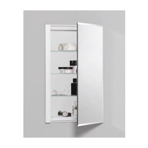 "Robern RC1626D4FB1 R3 16"" x 26"" x 4"" Beveled Single Door Medicine Cabinet with Reversible Hinge"