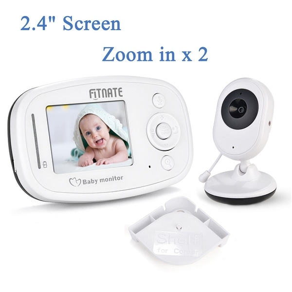 "Fitnate 2.4""Video Baby Monitor with Camera Stand Shelf Wireless Night Vision 2 Way Talkback Audio"