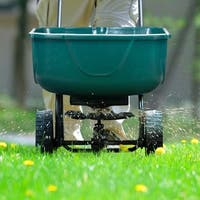 Gymax Broadcast Spreader Builder Garden Seeder Push Walk Behind Fertilizer Green
