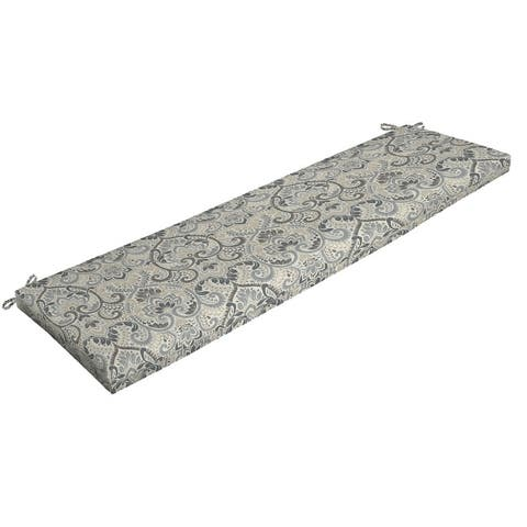 Arden Selections Aurora Damask Outdoor 17 x 46 in. Bench Cushion