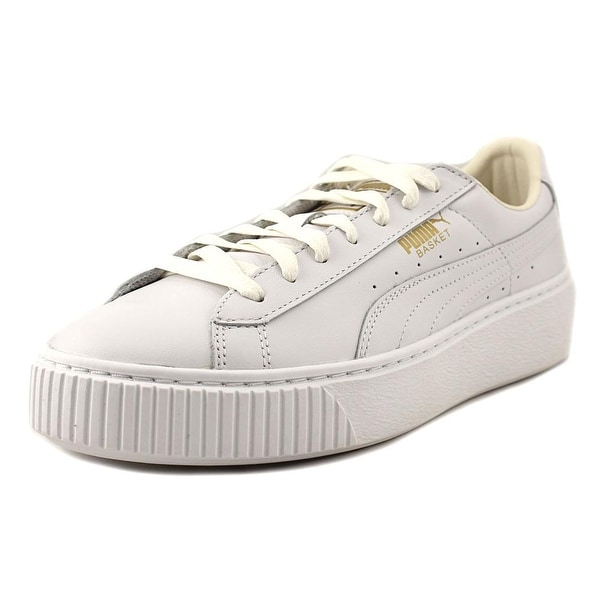 9521a0767923 Shop Puma Basket Platform Core Women Round Toe Leather White ...