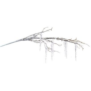 """Pack of 6 Artificial Christmas Branches with Winter Snow and Icicles 34"""""""