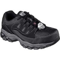 Skechers Men's Work Holdredge Steel Toe Sneaker Black