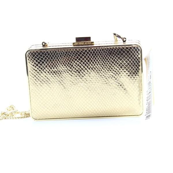 Shop Michael Kors Gold Pearl Box Crossbody Clutch Leather Handbag ... 6698bcc69c6c