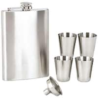 Maxam® 6pc Stainless Steel Flask Set