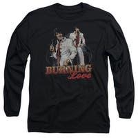 Elvis Burning Love Mens Long Sleeve Shirt