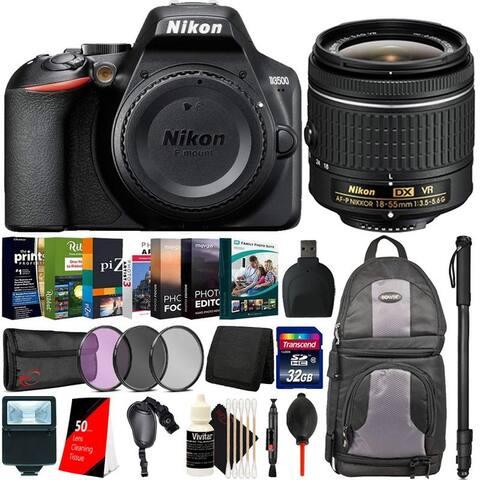 Nikon D3500 24.2MP DSLR Camera + 18-55mm Lens + Essential Kit