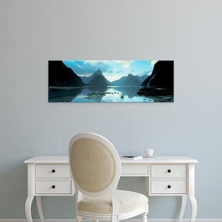 Easy Art Prints Panoramic Images's 'South Island, Milford Sound, New Zealand' Premium Canvas Art