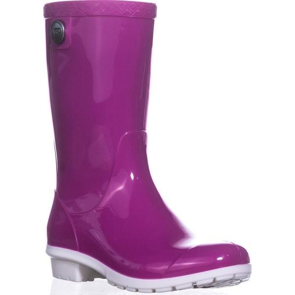 UGG Australia Sienna Mid-Calf Rain Boots, Neon Pink - 5 us / 36 eu