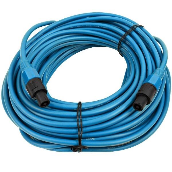SEISMIC AUDIO 12 Gauge 100 Foot Blue Speakon to Speakon Speaker Cable 100' -