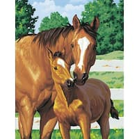 """Paint Works Paint By Number Kit 11""""X14""""-Mother's Pride"""