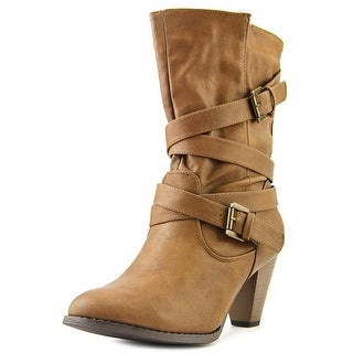 Vybe Jenny Mae Women Round Toe Synthetic Brown Mid Calf Boot