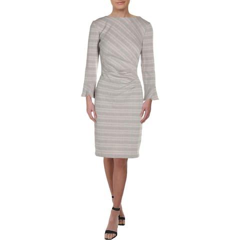 Lauren Ralph Lauren Womens Daria Wear to Work Dress Ruched Plaid