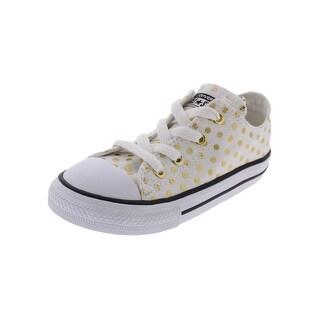 Converse Girls Casual Shoes Metallic Low Top