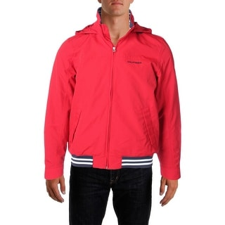 Tommy Hilfiger Mens Water Resistant Mock Collar Jacket