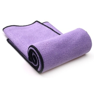 YogaRat Yoga Hand Towel - Dark Purple/Black - dark purple/black