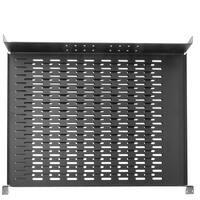 Offex Rackmount Vented 4 Point Adjustable Shelf, 19 inch Rack 1U
