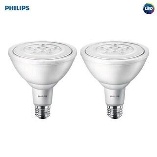 Phillips 11W PAR38 Daylight LED Non-Dimmable Light Bulb, 2 Count