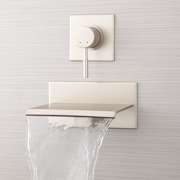 Signature Hardware 924617 Lavelle 6 1 2 Wall Mounted Waterfall Tub Faucet